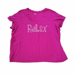 """Avenue Body Pink T-shirt """"Relax""""- 22/24 Plus size"""